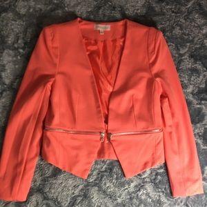 A Chic peachy orange soft all year round blazer